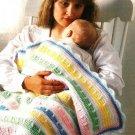 Y382 Crochet PATTERN ONLY Pastel Confections Baby Blanket Afghan Pattern