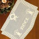 X913 Filet Crochet PATTERN ONLY Noel Christmas Table Runner Pattern