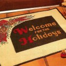 Y719 Crochet PATTERN ONLY Holiday Welcome Rug Pattern Christmas Thanksgiving
