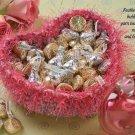 X154 Crochet PATTERN ONLY Fuzzy Heart Basket Pattern Valentine