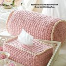 W112 Crochet PATTERN ONLY Boutique Bolster Pillow & Tissue Box Cover Set Pattern