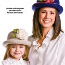 W115 Crochet PATTERN ONLY Mom and Daughter Glad Hatter Floral Hat Patterns