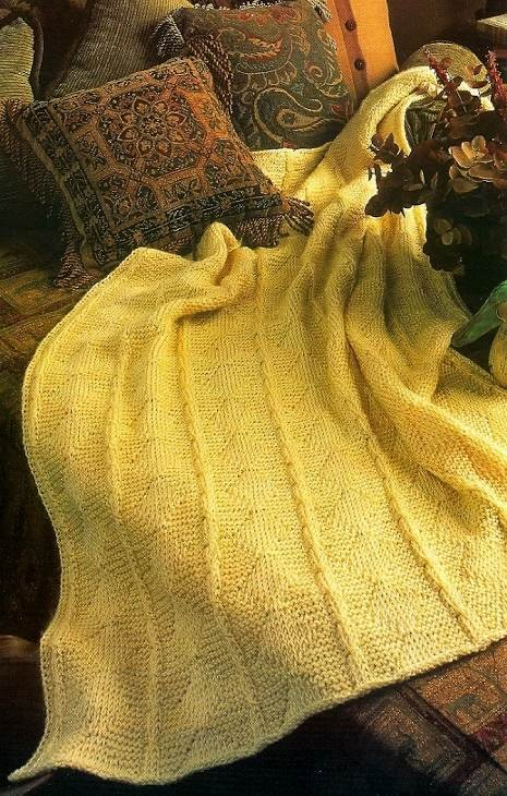 Y791 Crochet PATTERN ONLY Diamonds & Cables Afghan Looks Knitted Pattern