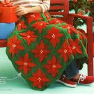 Y232 Crochet PATTERN ONLY Dimensional Christmas Poinsettia Afghan Throw Pattern