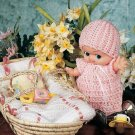 Y565 Crochet PATTERN ONLY Sweet Dreams Baby Doll Outfit and Blanket Patterns