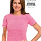 W052 Crochet PATTERN ONLY Textured Ladies Summer Top Pattern