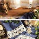 Y201 Crochet PATTERN ONLY Scalloped Curtain and Towel Edging Patterns