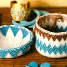 X082 Bead PATTERN ONLY Beaded Tapestry Crochet Round Box Pattern