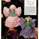 Y039 Crochet PATTERN ONLY Clothespin Angels Carnation & Violet Dolls