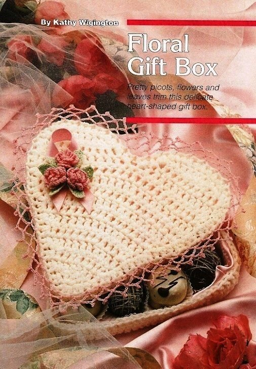 X181 Crochet PATTERN ONLY Floral Valentine Heart Candy Box Pattern
