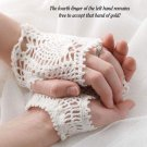 W043 Crochet PATTERN ONLY Lacy Fingerless Pineapple Bridal Gloves Pattern