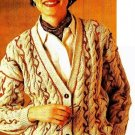 Y629 Knit PATTERN ONLY Cables & Vines Cardigan Sweater Pattern