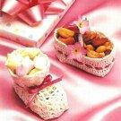 X872 Crochet PATTERN ONLY Bootie & Basket Nut Cup Pattern Wedding, Shower Favors
