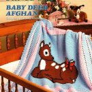 Y693 Crochet PATTERN ONLY Sweet Baby Deer Afghan or Baby Blanket Pattern