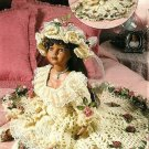 Y394 Crochet PATTERN ONLY Garden Gown & Hat Madison Porcelain Doll Outfit