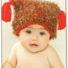 Y288 Crochet PATTERN ONLY Fuzzy Wuzzy Christmas Baby Hat Pattern