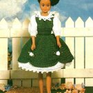 X806 Crochet PATTERN ONLY Irish Colleen Fashion Doll Barbie Dress