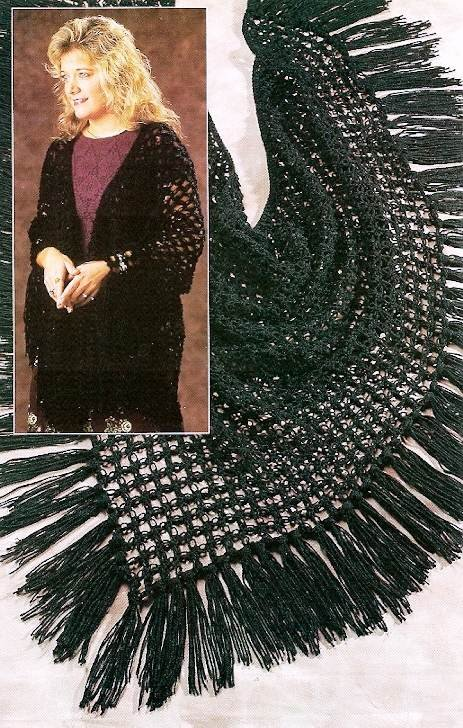 Y785 Crochet PATTERN ONLY Lacy Love Knot Shawl Wrap Pattern