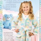 W171 Crochet PATTERN ONLY Soft and Sweet Childs Bathrobe & Teddy Bear Pattern
