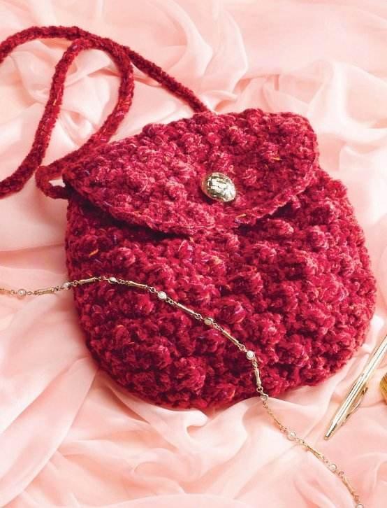 W173 Crochet PATTERN ONLY Girls Night Out Little Bag or Purse Pattern