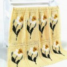 X041 Crochet PATTERN ONLY Delightful Daffodil Flower Afghan Pattern