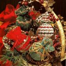 X004 Crochet PATTERN ONLY 4 Glittering Lace Christmas Ornament Cover Pattern