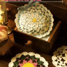Y975 Crochet PATTERN ONLY Daisy Sachet and Mini Doilies Patterns