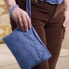 Y875 Crochet PATTERN ONLY Floral Trim Belt and Clutch Purse Pattern