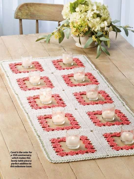 Y820 Crochet PATTERN ONLY Coral Gardens Table Runner Pattern