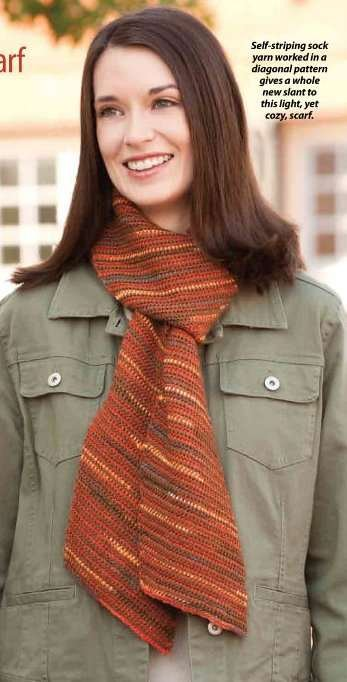 Y813 Crochet PATTERN ONLY On-the-Bias Neck Scarf Pattern