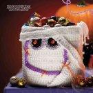 Y808 Crochet PATTERN ONLY Munchy Mummy Halloween Bowl Bag Pattern