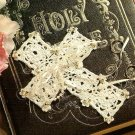 Y740 Crochet Beaded PATTERN ONLY Bride's Wedding Cross Pattern
