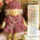 Y747 Crochet PATTERN ONLY Granny Button Doll Pattern