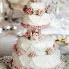 Y588 Crochet PATTERN ONLY Miniature 4 Tier Wedding Cake Pattern