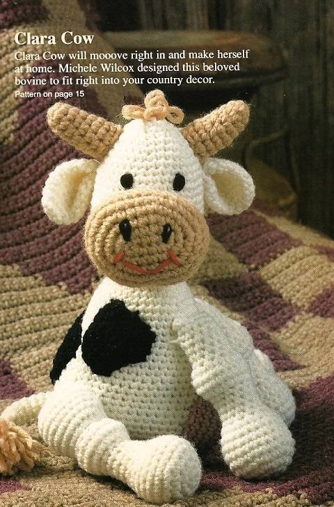Y539 Crochet PATTERN ONLY Clara the Sitting Cow Toy Doll Pattern