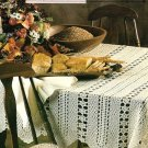 Y393 Crochet PATTERN ONLY Rambling Rose Tablecloth Pattern