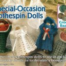 Y345 Crochet PATTERN ONLY Special Occasion Clothespin Dolls Bride Graduate
