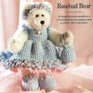 Y343 Crochet PATTERN ONLY Rosebud Bear Dress Purse Headband & Shoes Patterns
