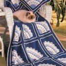 Y313 Crochet PATTERN ONLY Fantasy Fan Afghan Throw Pattern