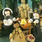 Y283 Crochet PATTERN ONLY Thanksgiving Pilgrim & Indian Doll Patterns