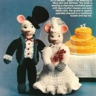 Y223 Crochet PATTERN ONLY Bride & Groom Mouse Dolls Pattern