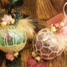 Y073 Crochet PATTERN ONLY 3 Fancy Keepsakes Ornament Covers Christmas