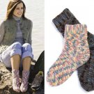 Y025 Crochet PATTERN ONLY Comfy Cozy Socks for Men and Women 2 Heights