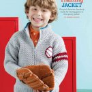 Y752 Crochet PATTERN ONLY Baseball Spring Training Zipper Jacket Sweater Pattern