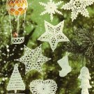 X476 Crochet PATTERN Book ONLY Christmas Ornaments & Snowflakes Angels