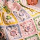 Y935 Crochet PATTERN ONLY Precious Petals Baby Afghan Blanket Pattern
