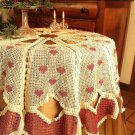 Y706 Crochet PATTERN ONLY Victorian Christmas Heart Tablecloth Pattern
