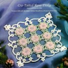 W023 Cro-Tat PATTERN ONLY Crochet-Tatted Rose Doily Pattern