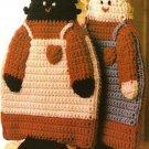 X540 Crochet PATTERN ONLY Country Folk Potholder Patterns