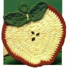 Y739 Crochet PATTERN ONLY Apple Slice Potholder Pattern